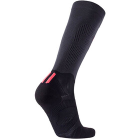 UYN Run Compression Fly Socks Women Anthracite/Coral Fluo
